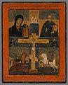 Neznámy autor - Ikona-Ukrižovanie s kazaňskou bohorodičkou,sv.Mikulášom,sv.Jurajom a Dimitrij - O 218 - Orava Gallery.jpg