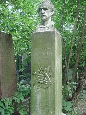 Nikolai Rubinstein - Grave of Nikolai Rubinstein in Novodevichy Cemetery, Moscow.