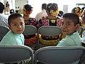 Niños Zapotecos del Istmo de Tehuantepec escuchando en su Lengua Zapoteca la Convencion Anual.jpg