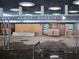 Nicosia International Airport - Health control area within the derelict terminal building