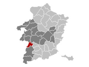 Nieuwerkerken - Image: Nieuwerkerken Limburg Belgium Map