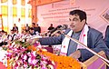 Nitin Gadkari addressing at the foundation stone laying ceremony of project for protection of Majuli Island from erosion and Construction of Brahmaputra Board Complex, at Rawnapara, Majuli.jpg
