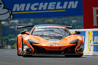 Mount Panorama Circuit - Shane van Gisbergen in the McLaren 650S GT3 with which he set the current lap record in February 2016.
