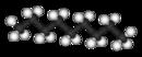 Kugel-Stab-Modell von Nonan