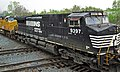 Norfolk Southern Railway - 9397 & Union Pacific Railroad - 9566 diesel locomotives (Marion, Ohio, USA) 1 (43175126382).jpg