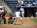 North Carolina 3B Colin Moran about to swing away.jpg