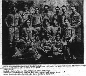 1892 North Carolina Tar Heels football team - Image: North Carolina Tar Heels football team (1892)