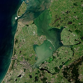 IJsselmeer Lake in the Netherlands
