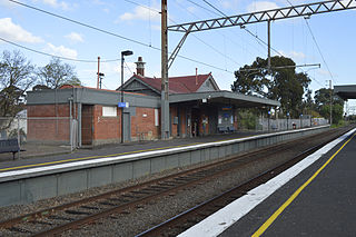 Northcote railway station railway station in Northcote, Melbourne, Victoria, Australia