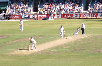 South African cricket team in Australia in 2005–06 - Ntini bowls, 1st test