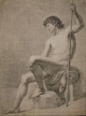 Francisco Agustín y Grande - Nu masculí (1780) MNAC.