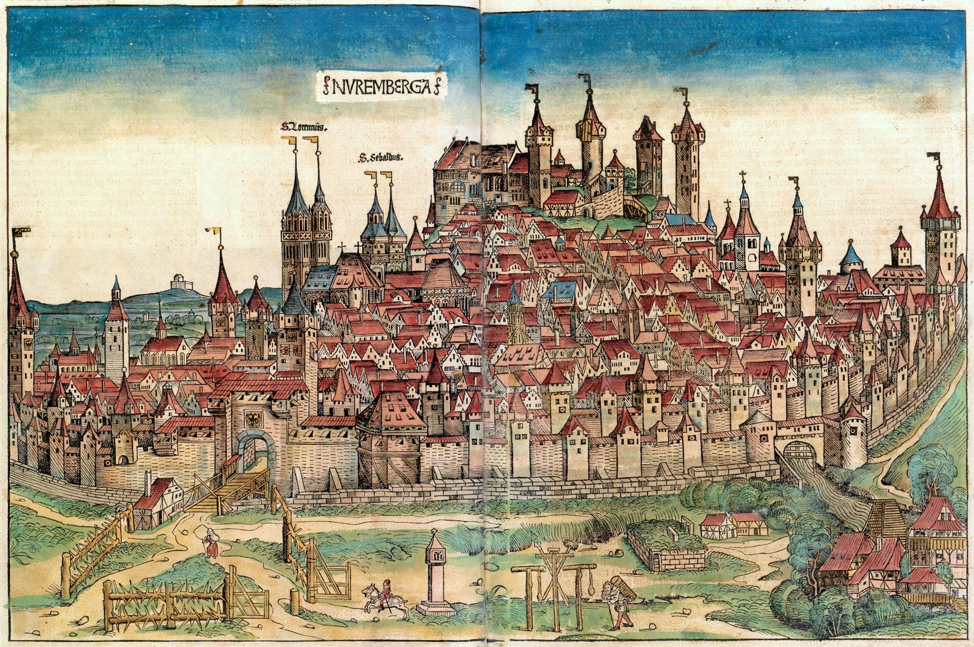 Von Michel Wolgemut, Wilhelm Pleydenwurff (Text: Hartmann Schedel) - Eigener Scan, Gemeinfrei, https://commons.wikimedia.org/w/index.php?curid=872178