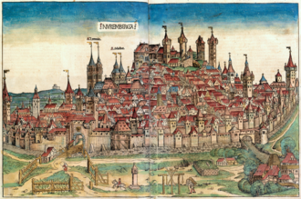 Nuremberg Chronicle - Woodcut of Nuremberg, Nuremberg Chronicle