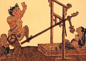 Buddhist Hell - the Punishment of Belly Smashing. Set of the Mandschu Prince; Qing Dynasty