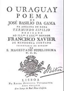 O Uraguai  J. Basílio da Gama. 1769