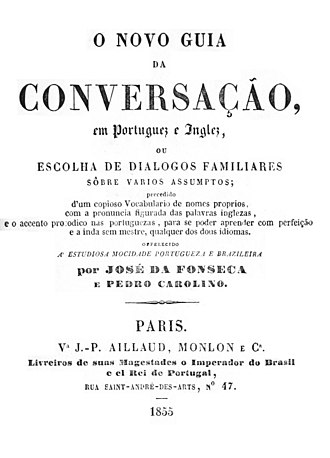 English As She Is Spoke - Image: O novo guia da conversaçao en portuguez e inglez 1ere edition