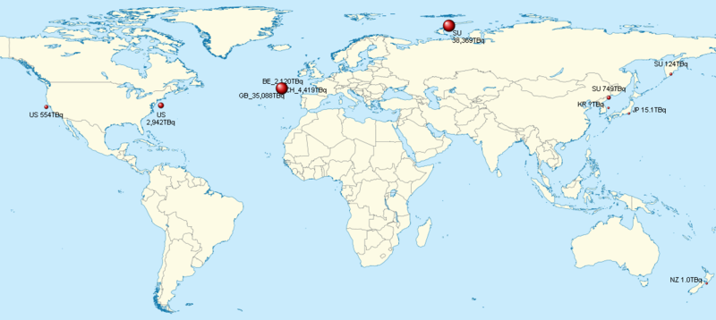 Ocean Disposal Of Radioactive Waste Wikipedia - Us nuclear waste sites map