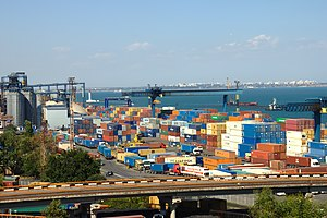 Port of Odessa - Container terminal of the Port of Odessa.