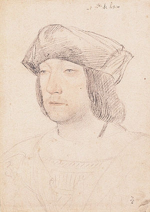 Odet of Foix, Viscount of Lautrec - Odet de Foix, Vicomte de Lautrec, sketched by Jean Clouet (early 16th century).