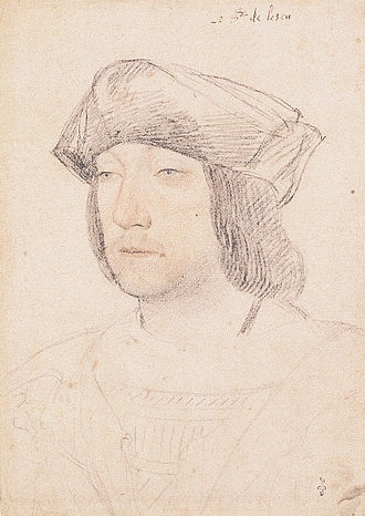 Battle of Capo d'Orso - Portrait of the viscount of Lautrec (Jean Clouet, early 16th century, Musée Condé).