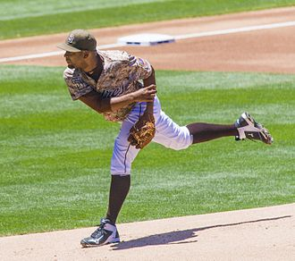 Odrisamer Despaigne - Despaigne pitching for the San Diego Padres in 2015
