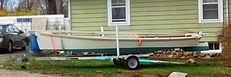 Sharpie (boat) - 19 foot Ohio sharpie, Reuel Parker design. A modern sharpie design based on traditional lines.