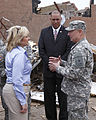 Oklahoma Gov. Mary Fallin, left, leads U.S. Army Gen. Frank J. Grass, right, the chief of the National Guard Bureau, on a tour through the Plaza Towers Elementary School in Moore, Okla., May 28, 2013, where 130528-Z-VF620-4689.jpg