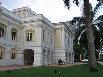 Lim Yew Hock - Lim won in the Legislative Assembly election of 1955, representing Havelock constituency, and was appointed Minister for Labour and Welfare. The photograph shows the former Legislative Assembly House of Singapore