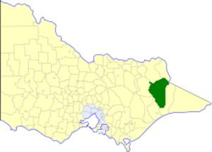 Shire of Omeo - Location in Victoria