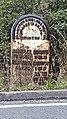 Old mile stone on Wentworth road rawmarsh swinton border south Yorkshire.jpg