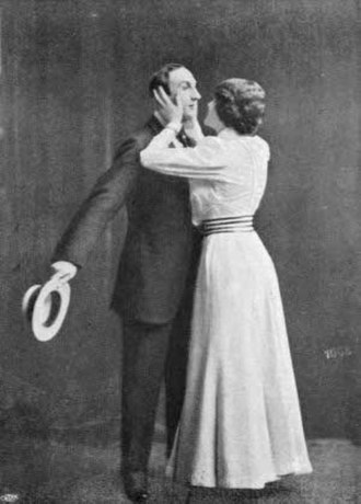 You Never Can Tell (play) - Olof and Frida Winnerstrand on stage 1908, as Valentine and Gloria