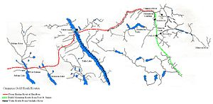 Omineca Gold Rush - Image: Omineca Routes