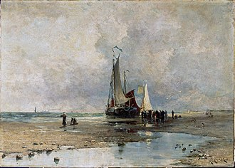 Harry Chase (artist) - Image: On The Sands, oil on canvas, Harry Chase, 1883