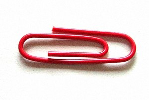One red paperclip - The paperclip that Kyle MacDonald traded for a house.