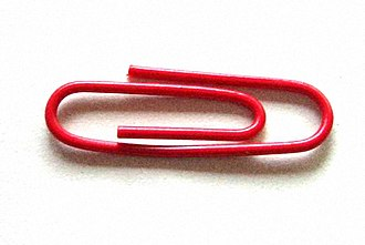 One red paperclip - The paperclip that Kyle MacDonald traded for a house