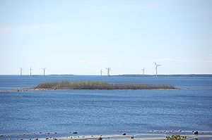 Renewable energy in Finland - Vatunki wind farm in Kuivaniemi, Ii municipality, Finland.