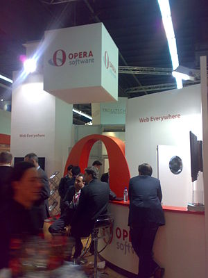 Opera Software stand at GSMA Barcelona 2008