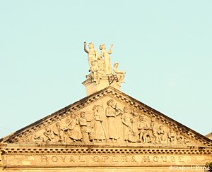 Royal Opera House (Mumbai) - Restored top portion of the Opera House building in 2012.