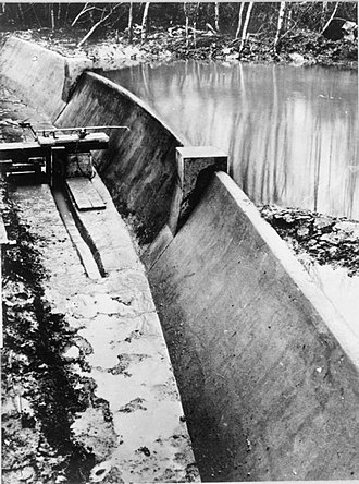 Operation Chastise - 1:50 Scale model of the Moehne Dam, Building Research Establishment