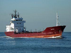 Orateca IMO 8023527 p1 approaching Port of Rotterdam, Holland 21-Feb-2005.jpg