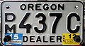 Oregon 2015 Motorcycle Dealer license plate.jpg