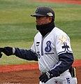 Osamu Yonemura, coach of the Yokohama BayStars, at Yokohama Stadium.JPG