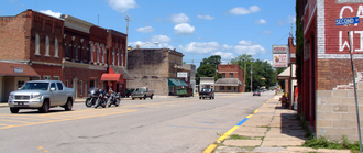 Otterbein, Indiana - The view north along Main Street.