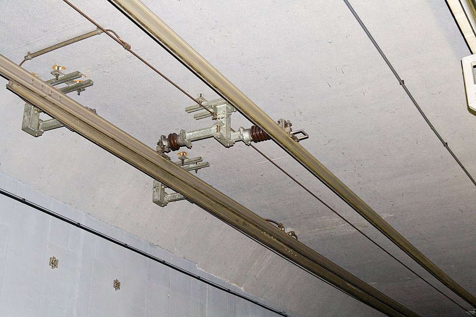 Overhead conductor rails