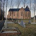 Overzicht zuidgevel met zicht op het kerkhof - Zeerijp - 20374168 - RCE.jpg