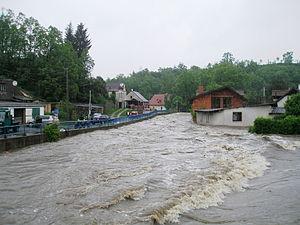 2013 in the Czech Republic - Flooding in Nový Knín, Czech Republic on June 2, 2013