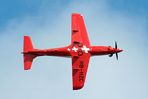 Pilatus PC-21 - Underside of a PC-21 in-flight
