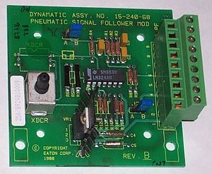 Electronic circuit - A circuit built on a printed circuit board (PCB).