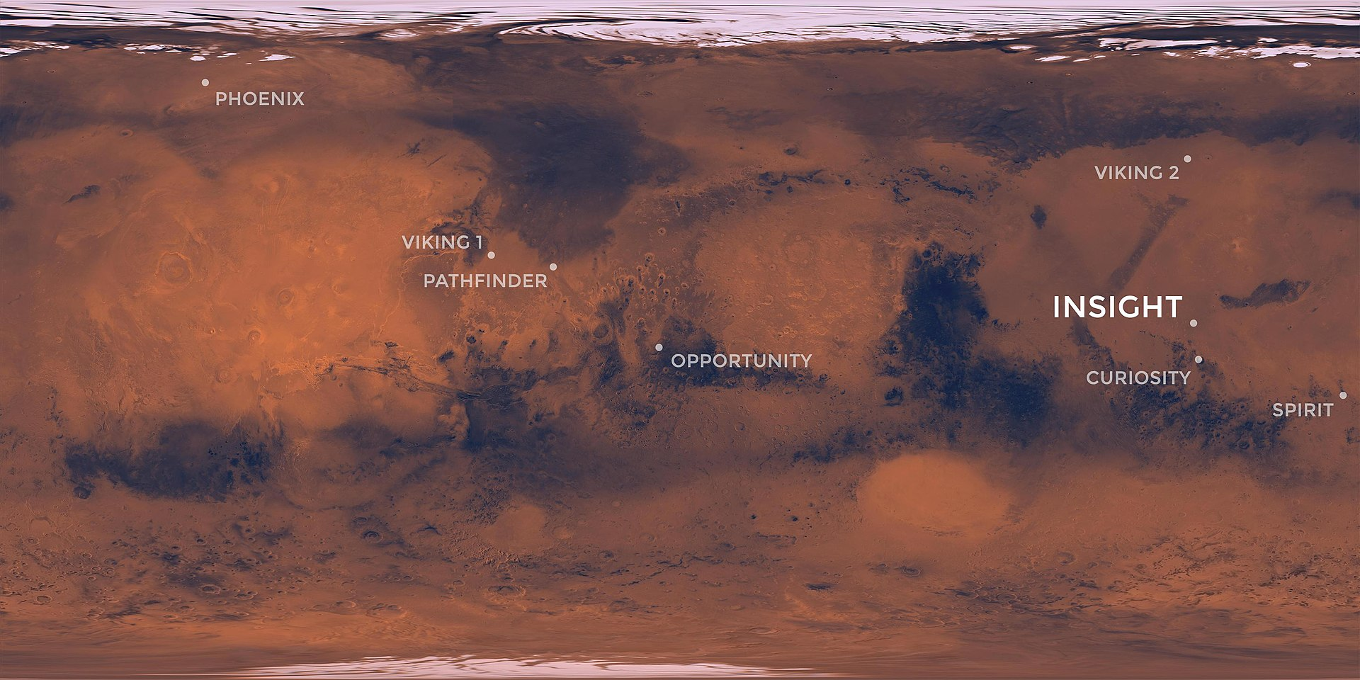 mars insight landing coordinates - photo #11