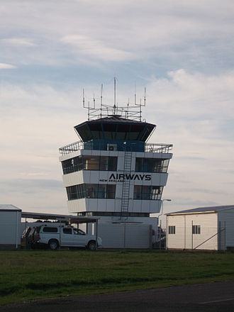 Palmerston North Airport - Air traffic control tower for PMR/NZPM